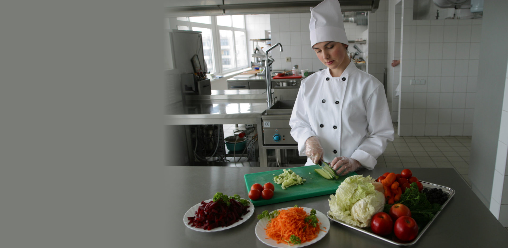 catering foods with fancy garments