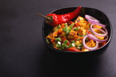 Paneer Tikka Kabab with chilli pepper