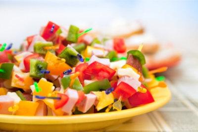 a portrait of fruit salad